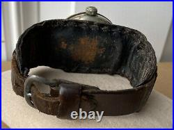 1917 WWI ELGIN Military Trench Watch VERY RARE 6s Philly Case + Shrapnel Guard