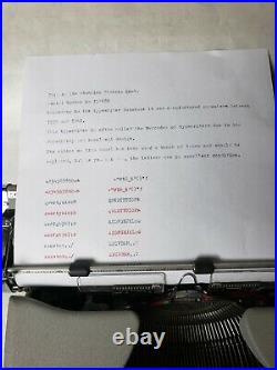 1959 1961 Olympia SM4 Typewriter / VERY RARE / EXCELLENT CONDITION with case