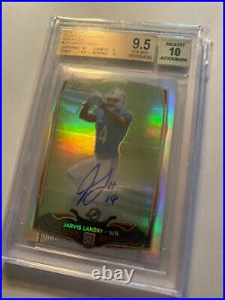 2014 Topps CHROME Jarvis Landry VERY RARE LIMITED #46/75 BGS 9.5 10 Autographed