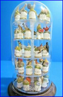 50 State Bird & Flower Thimbles is a beautiful glass display case. VERY RARE