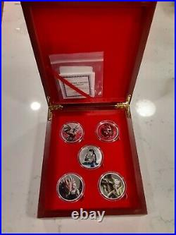 Anne Stokes Dragons Silver Complete Set Colorized VERY RARE! With Display Case
