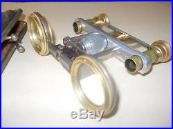 Antique Binoculars Folding lens withleather case CF very old very rare make offer