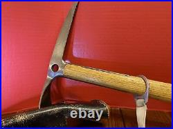 Antique Vintage Ice Climbing Axe With Leather Case Very old and Rare