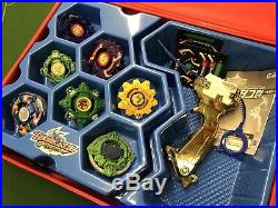 Beyblade G-Revolutions Set (Box Case) with Gold Grip Launcher + Tops Very Rare