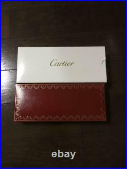 CARTIER BALLPOINT PEN Rare Gold WithBox Case Used Very Good Japan F/S