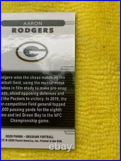 Case hit 2020 Obsidian Aaron Rodgers color blast SSP will grade very high! Rare