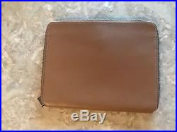 Coach Very Rare Pac Man Brown Leather Tablet Case Nwt 56058