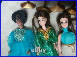 Dawn and Her Friends Doll Case + 3 Dolls including Very Rare African Amer. Doll