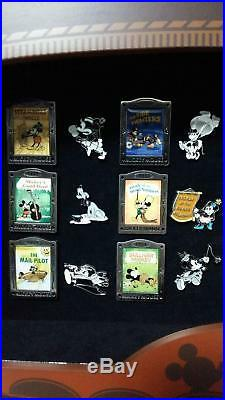Disney Mickey Mouse Cinema Pins Collection Set Of 24 In Oriignal Case Very Rare