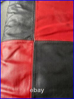 Double-sided King Size leather duvet cover and matching pillow cases very rare