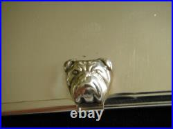 Dunhill Bulldog business card case in solid silver, very RARE
