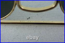 Excellent! Very rare vintage Ray Ban W0500 Aviator 64 14 USA B&L with case