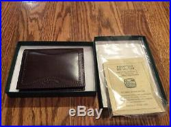 Filson Vintage Leather Card Case Outfitter Style Very Rare! New Never used