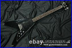 Gibson 1981 Flying V Black Electric Bass with Soft Case Very Rare Model