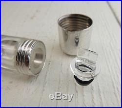 HELMUT LANG Glass case with silver details for the perfume and pills. Very rare