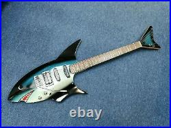 JAY TURSER' SHARK' ELECTRIC GUITAR + fitted hard case VERY RARE superb