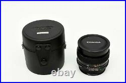 Konica Hexanon AR 21mm f/2.8 Rare Very Good with caps and case