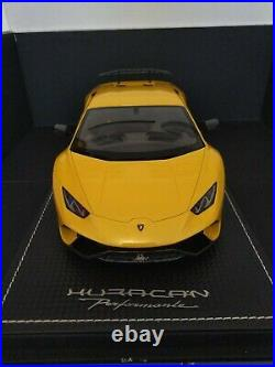 MR Collection 1/18 Lamborghini Huracan Performanate Very Rare With Case Not BBR