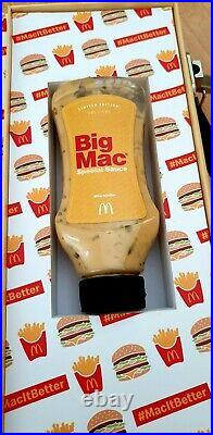 McDonald's Genuine Big Mac Sauce In Display Case very rare only 500 made