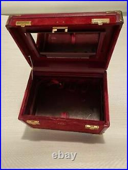 Must de Cartier Vanity Beauty Travel Case Very Rare! Great Condition WithMirror