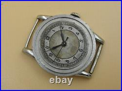 Omega very rare case&cal. 23.4SC Stainless Steel watch Circa 1937