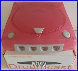 Replacement Translucent Red Case For Sega Dreamcast Nos New Vintage Very Rare