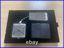 SEIKO King Seiko Pocket Watch Solid Silver withcase Rare In Very Good