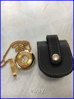 SEIKO pocket watch 7N07-0020 Quartz with battery-powered case Very Rare Gift EMS