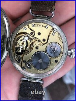 Sell very rare Watch Zenith 12 Red Trench old vintage Swiss Big Case 39mm