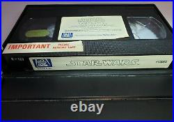 Star Wars Vhs 20th Century Fox Rental Library 1982 With Case Very Rare -Tested