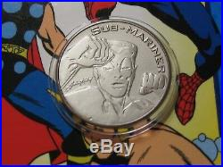 Sub-mariner Marvel 1999 Pewter Coin & Super Heroes Videos In Case Very Rare