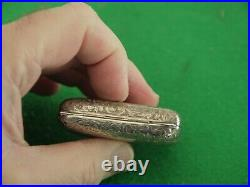 Superb Very Rare Antique Sterling Silver Hm 1904 4 Compartment Sovereign Case