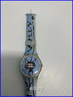Swatch Watch TEASE THE CAT GS127 Year 2005 Case 34mm Working Very Rare Vintage
