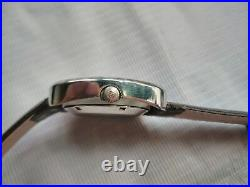 Swiss Very Rare Vtg Green Dial Sandoz Ss Square Case Gents Automatic Watch