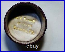 Thimble 14K Gold Antique Sewing Thimble Very Rare All Original Case Included
