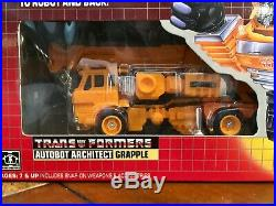 Transformers Hasbro 1985 Authentic Grapple New Display Case G1 Very Rare