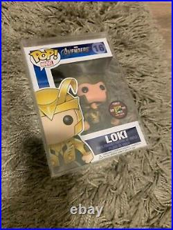 Ultra Rare Funko Pop Sdcc 16 Avengers Loki! Very Limited With Hard Case
