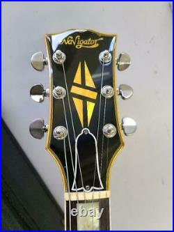 Used 1980 Navigator LP Type Electric Guitar Yellow Black With Case Very Rare