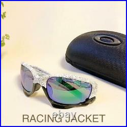 Used OAKLEY RACING JACKET Sunglasses With Case Very Rare
