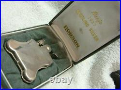 Used RONSON BANJO PETROL Sterling Silver LIGHTER Only 3000 With Case Very Rare