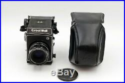 Very RARE! N. MINT Great Wall DF-5 6x6 Camera 90mm f3.5 Lens with Case From JAPAN