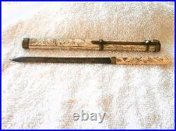 Very Rare 1890 Mongolian Implement In Case (qing Dynasty) Fantastic