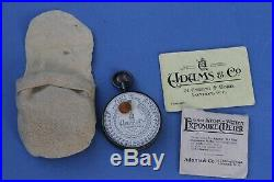 Very Rare ADAMS STOPWATCH METER c1900 Plus Instructions, Papers & Case