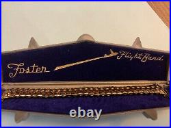 Very Rare Foster Flight Band 12K Gold Filled Watch Band W. Cool Case