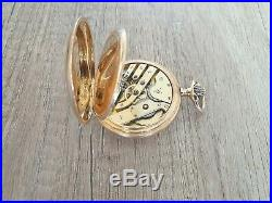 Very Rare Hunter-cased 14k Gold Pocket Watch By Audemars Family