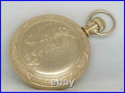 Very Rare Independent 5th Pinion Illinois Pocket Watch, Mint Gf Case, Running