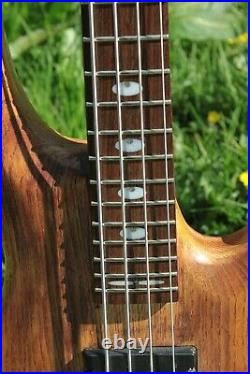 Very Rare Indie Guitar Co. Active/Passive 4-String Bass Guitar + Hard Case 2010