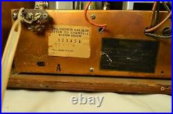 Very Rare National Co. NC-TV7W Tube Television Wood Case 1950 Works Needs Repair