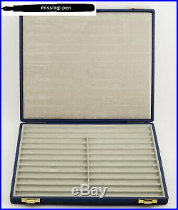 Very Rare Pelikan Leather Salesman / Collector Case for 24 Pens in Blue