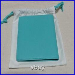 Very Rare! Tiffany Leather collection passport case Approximately 10 cm × 13.5cm